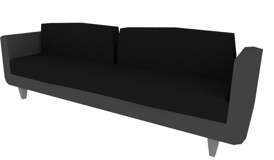 3D model cartoon couch