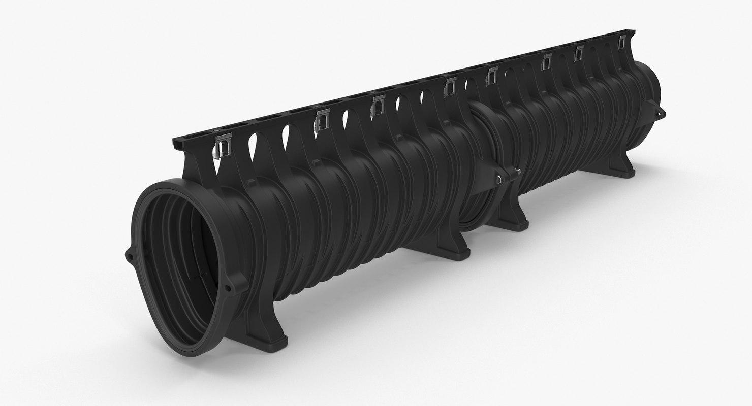 3D pipe drain