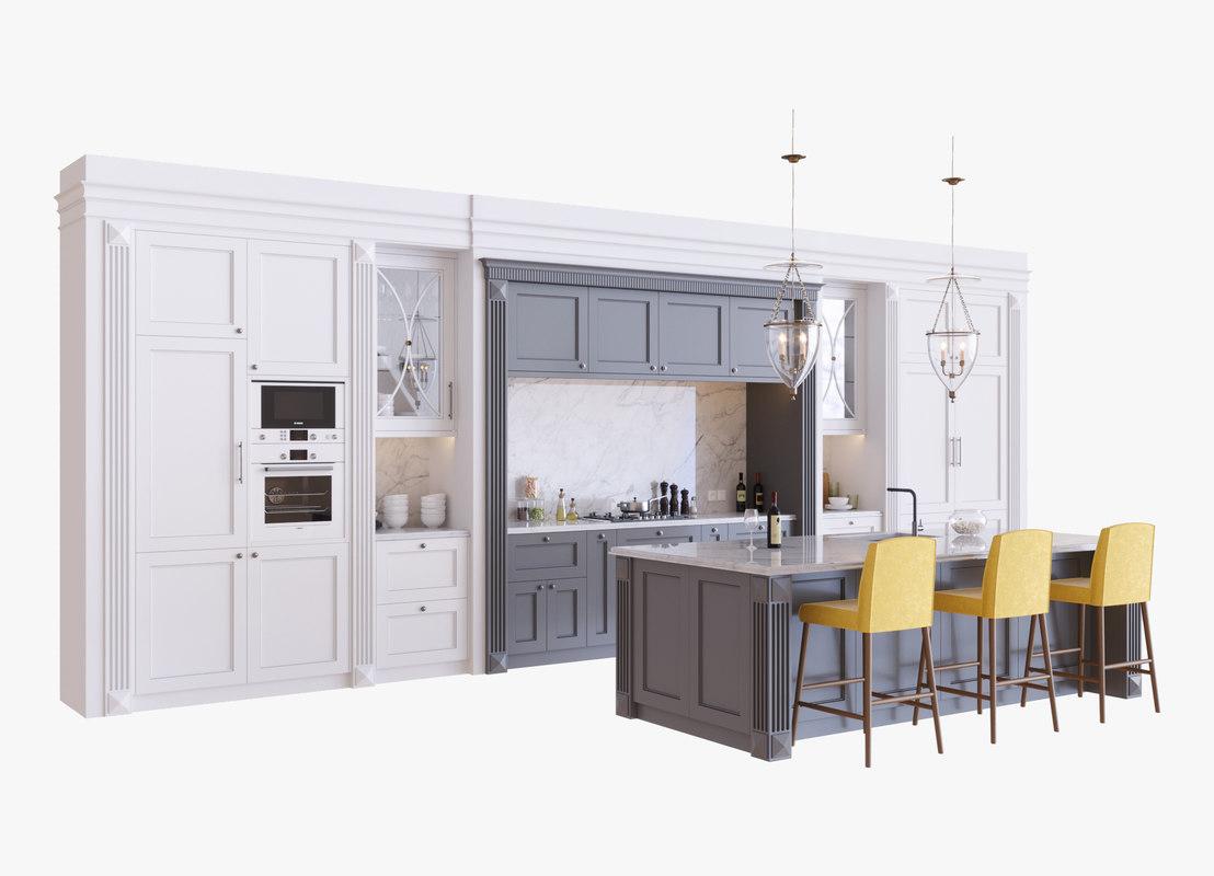 kitchen bosch 3D model
