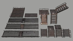 ladder stairs 3D model