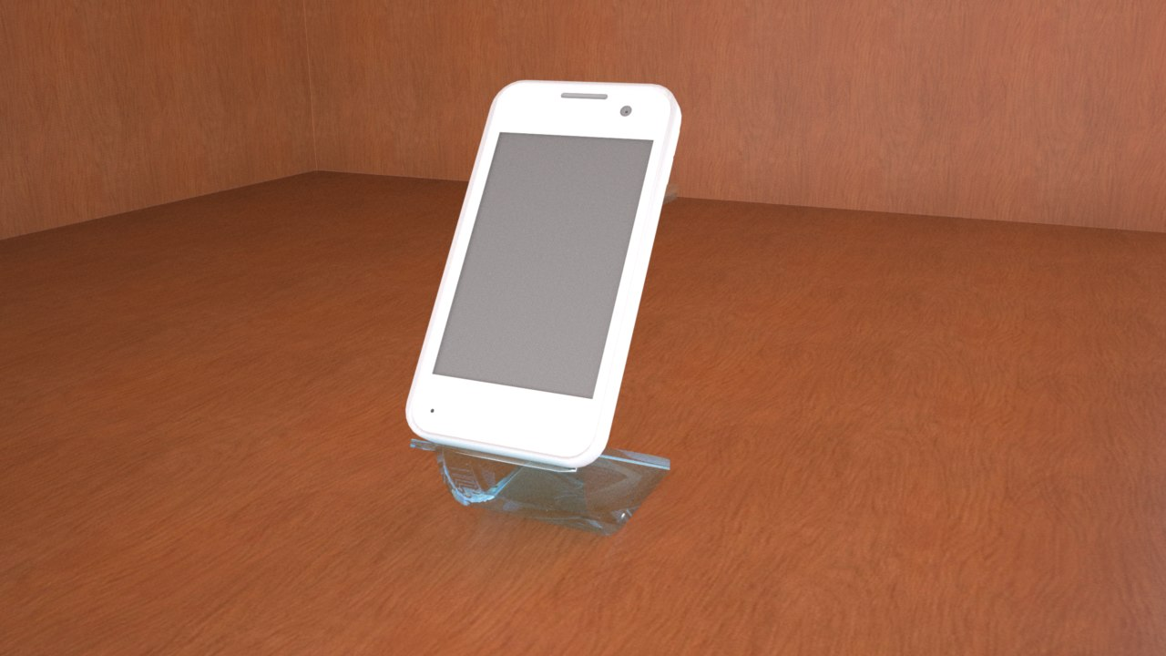 smartphone sample 3D model