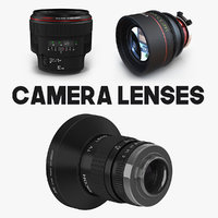 Camera Lenses 3D Models Collection