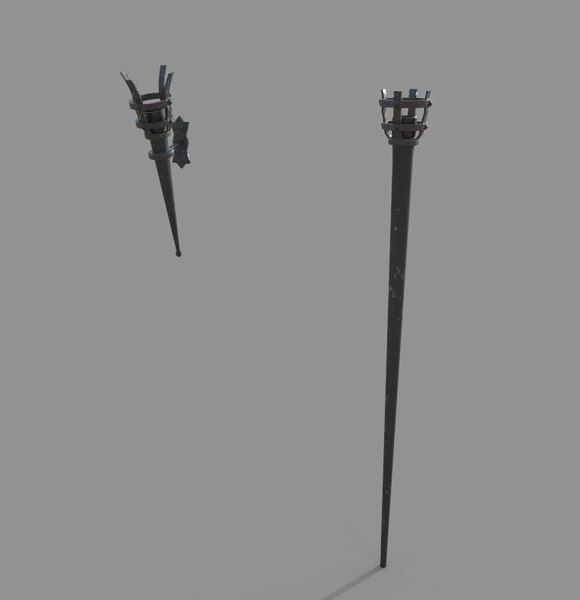 medival torches 3D