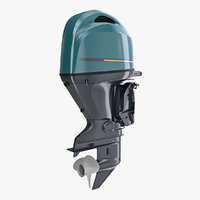 3D portable outboard boat motor