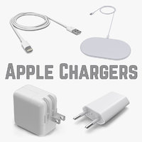 apple chargers 3D model