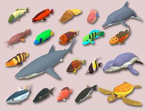 fish cartoon games 3D
