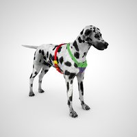 dalmatian dog harness - 3D model