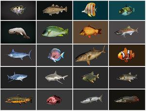 3D model fish - ready pack 1