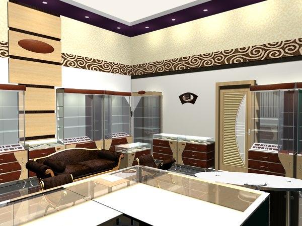 3D jewellery showroom