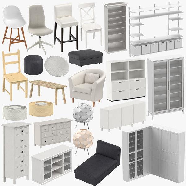 3D scandinavian furniture chair