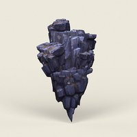 Low Poly Stone Rock 12