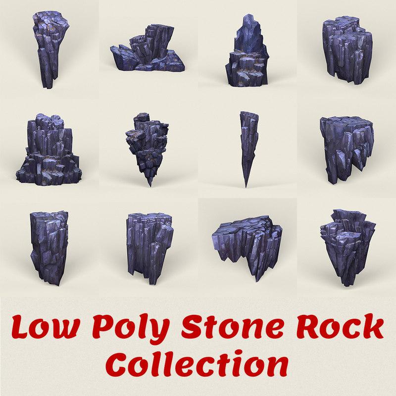 stone rocks model