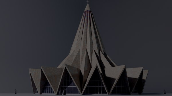 church saint antonio 3D model