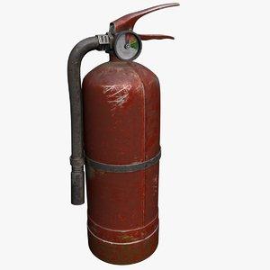 old extinguisher 3D