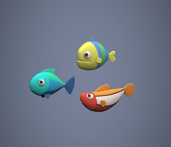 3D stylized fish model