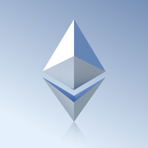 3D ethereum logo