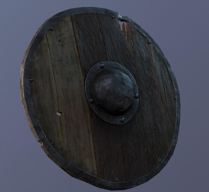 pbr medieval shield 3D