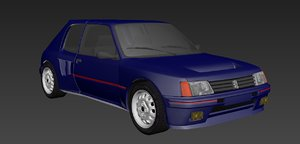 3D peugeot 205 turbo model