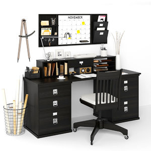 3D bedford rectangular desk