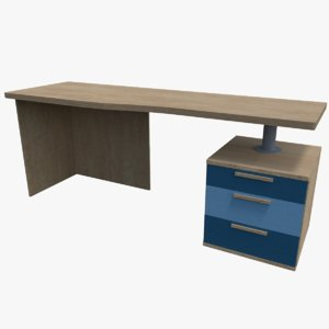3D shelves desk model