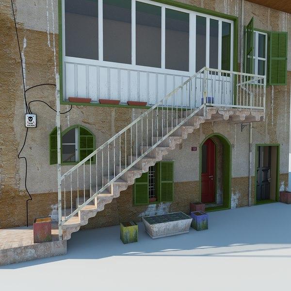old adobe house model