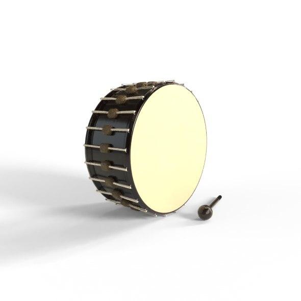 drum gavel modelled 3D model