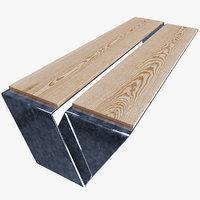3D modern bench