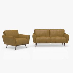 3D arno sofa chair model