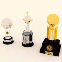 3D model soccer trophies
