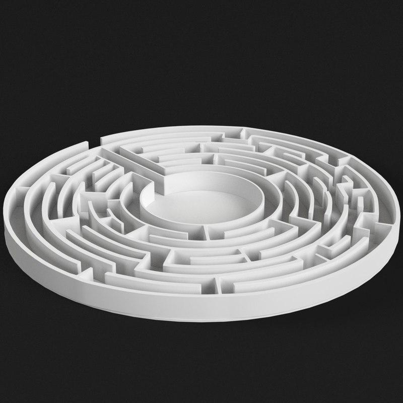 circular labyrinth ar 3D model