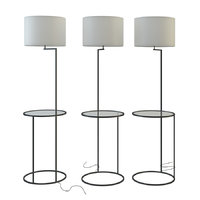 3D swift floor lamp white model