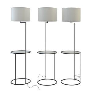 3D swift floor lamp white model