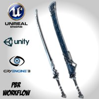 sci-fi frozen sword remake 3D