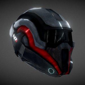 mass n7 helmet - 3D model