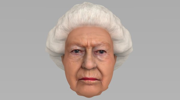 head queen elizabeth ii 3D model