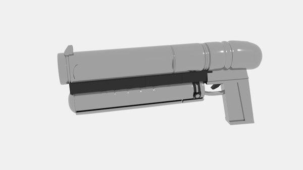 3D model gun nbas