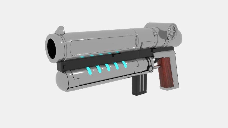 space gun laser design model