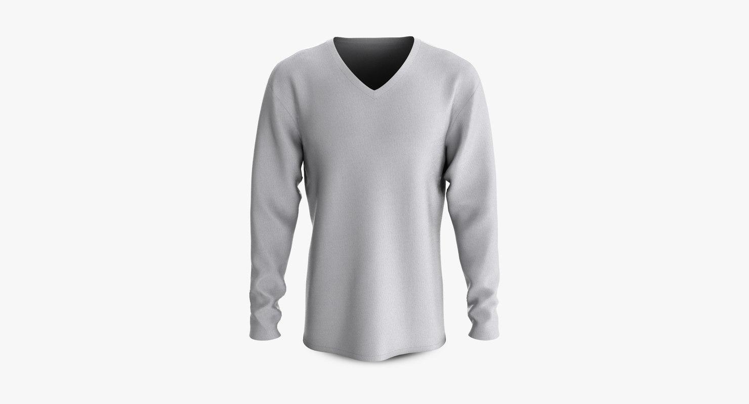 cotton male t-shirt dropped 3D model