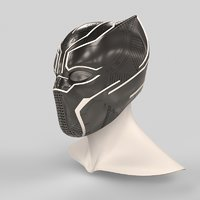 Black Panther Helmet 3D print model