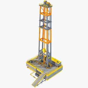 industrial rig 3D model