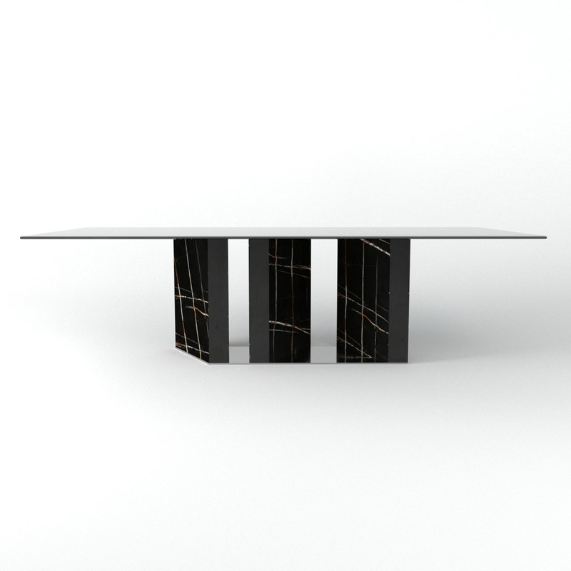 3D platium table model