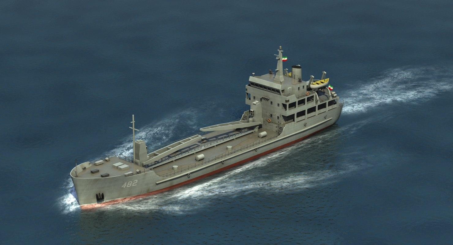 delvar class freighter 3D model