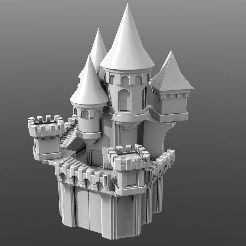 3D castle fantasy model
