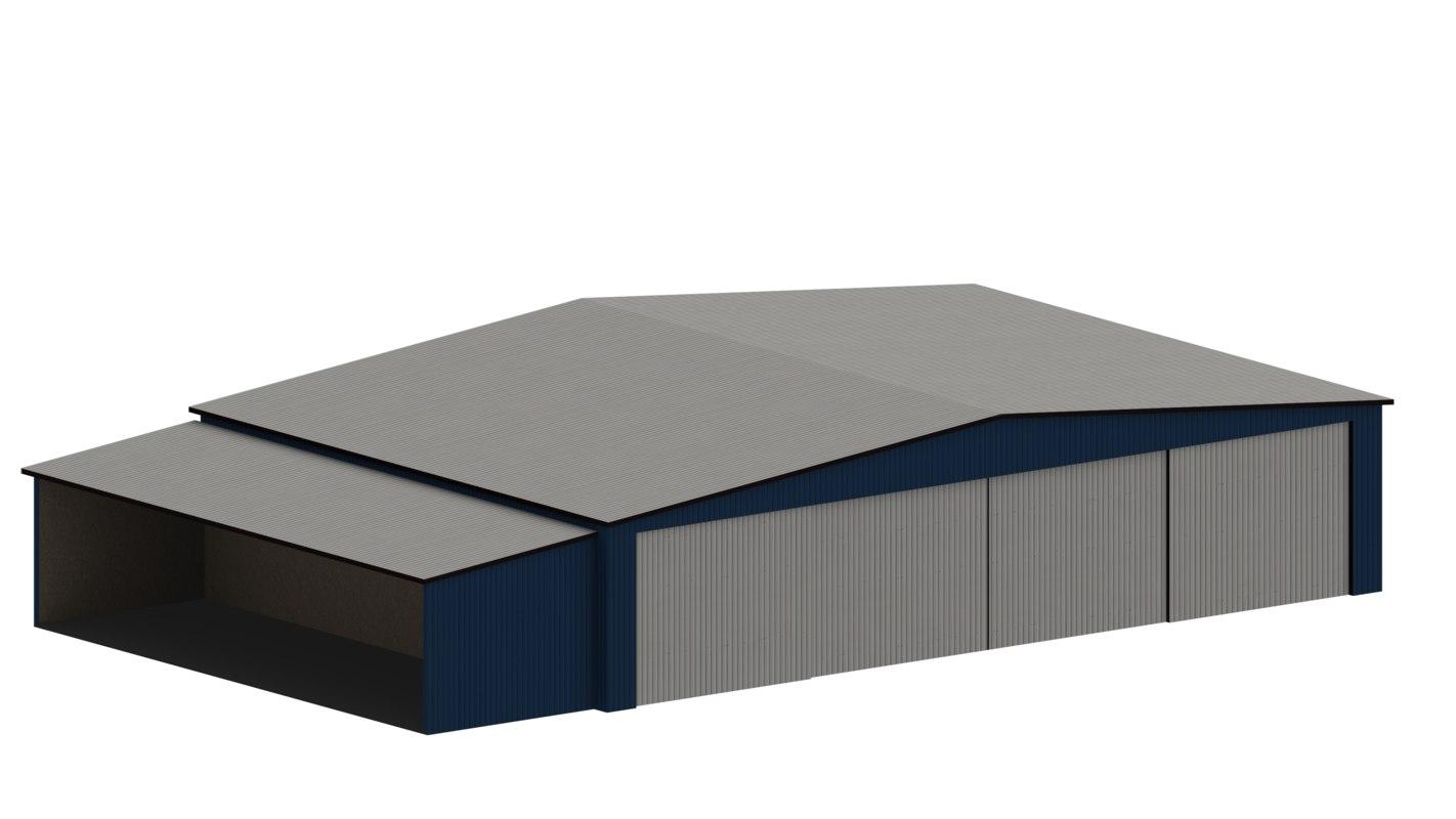 small hangar 3D