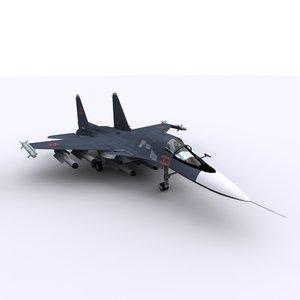 3D sukhoi 34