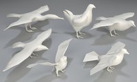 Birds - 6 pieces-low poly-part 4