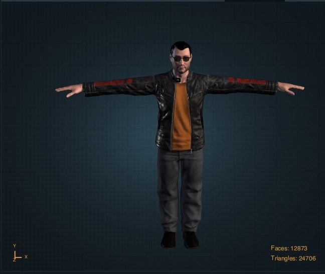 3D man rigged model