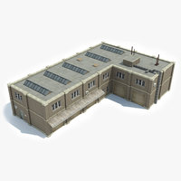 3D ready industrial building warehouse