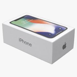 3D iphone x box model