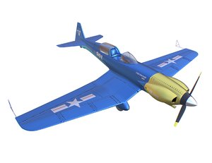 3D plane corsair p-51 model